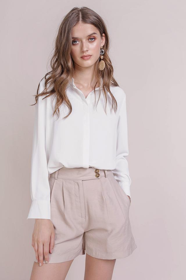Oda Button Shorts (Sand)
