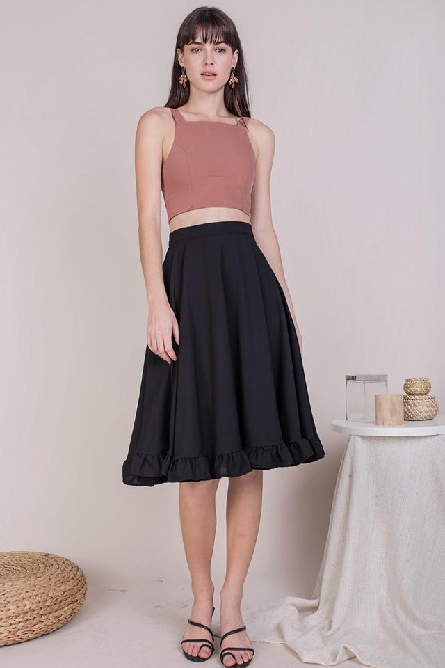 Sher Ruffles Skirt (Black)