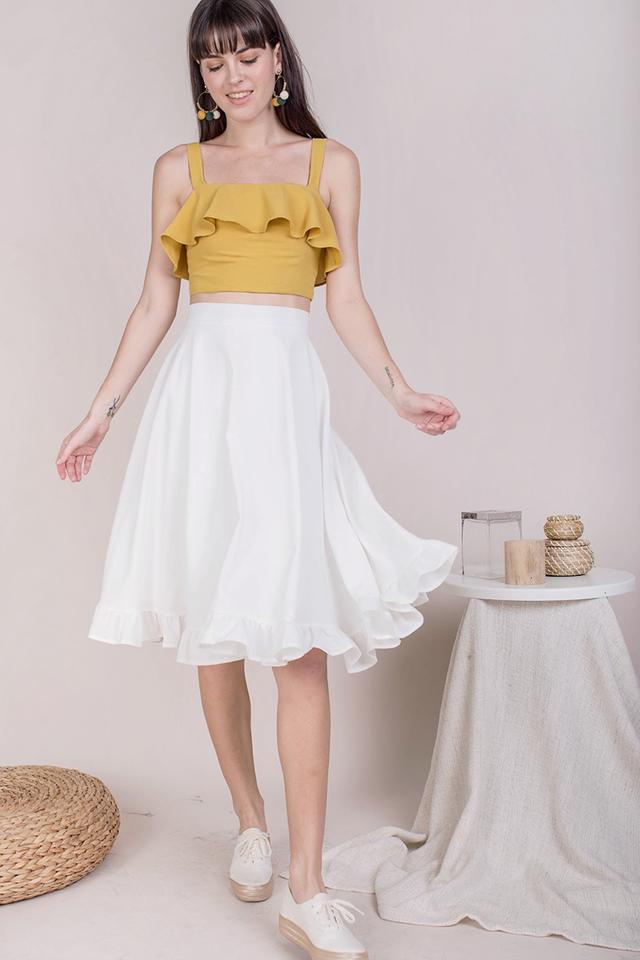 Sher Ruffles Skirt (White)