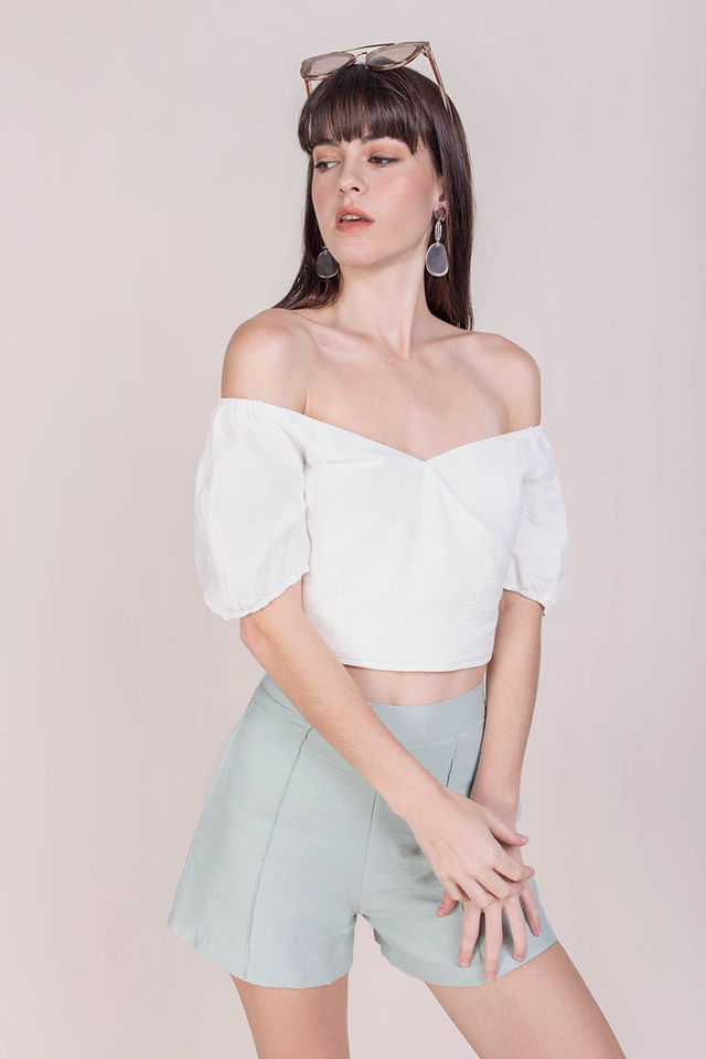 Ace Off Shoulder Top (White)