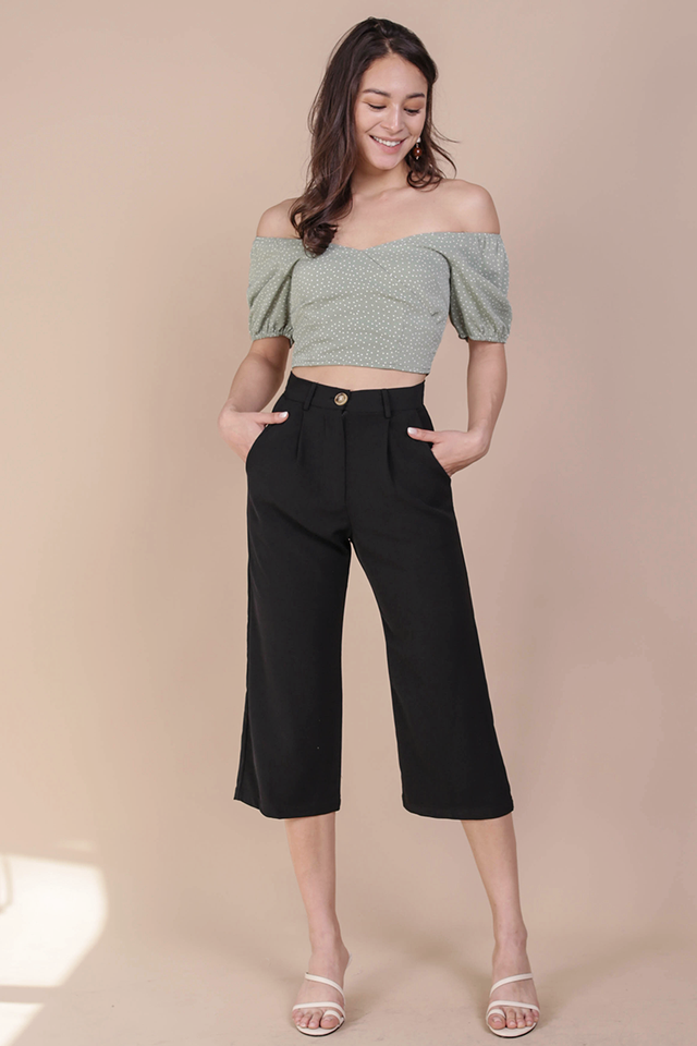 Clan Straight Leg Culottes (Black)