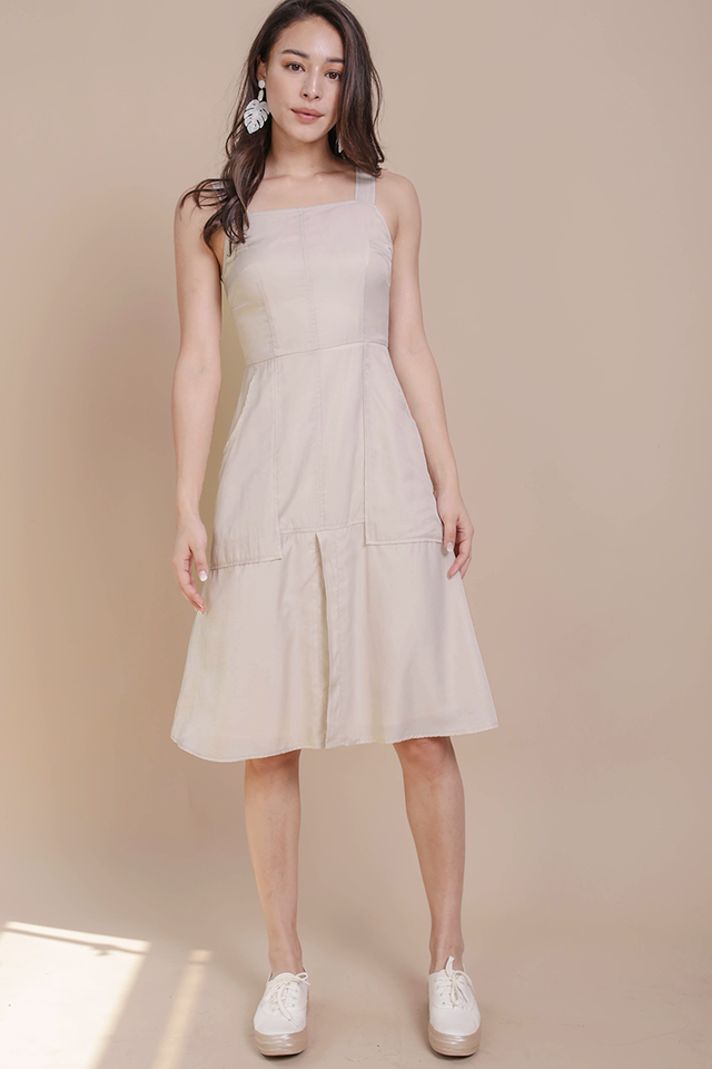 Charley Midi Dress (Cream)