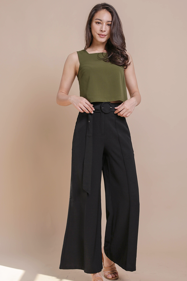 Pearson Belted Pants (Black)