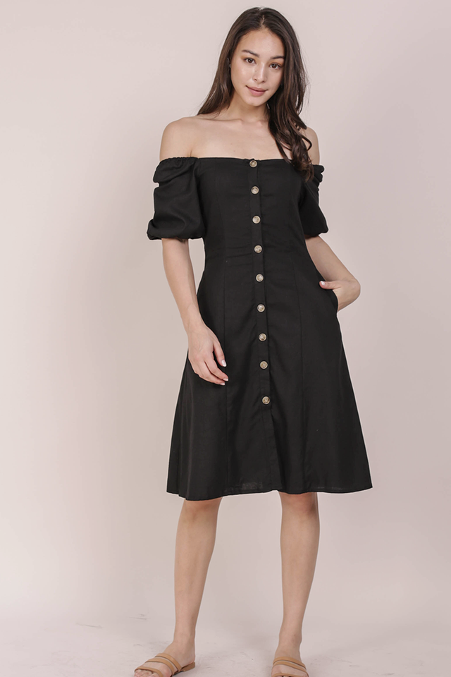 Molly Button Down Dress (Black)