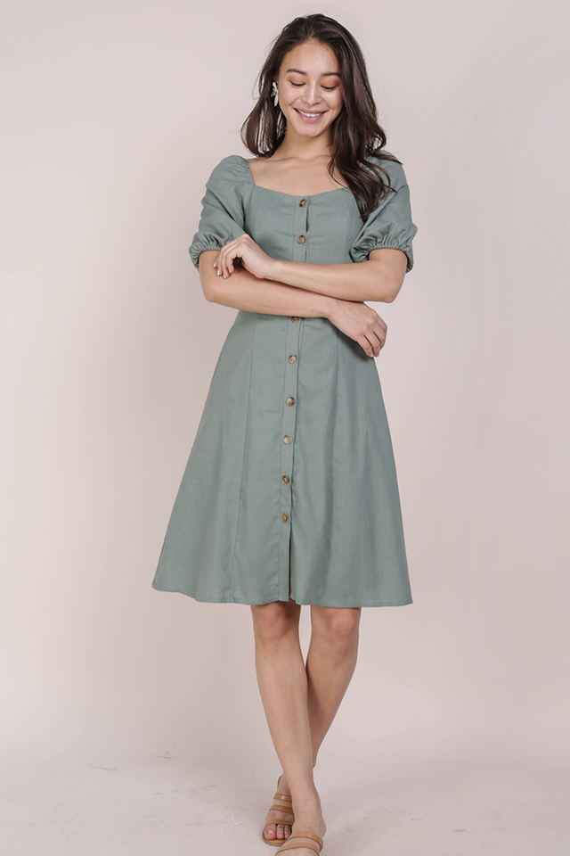 Molly Button Down Dress (Jade)