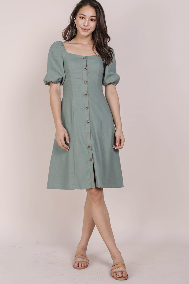 Molly Button Down Dress (Jade)