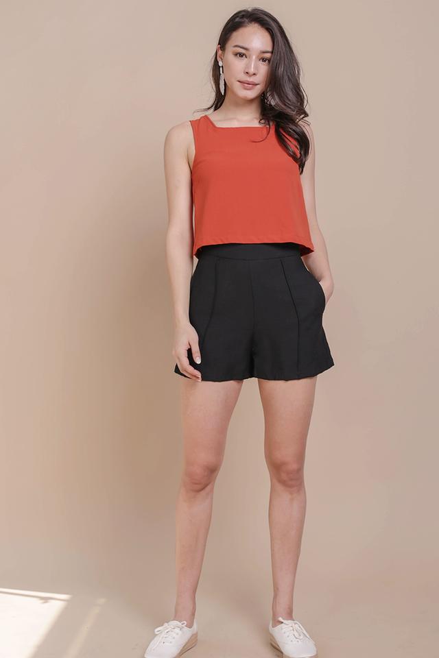 Mon Linen Shorts (Black)