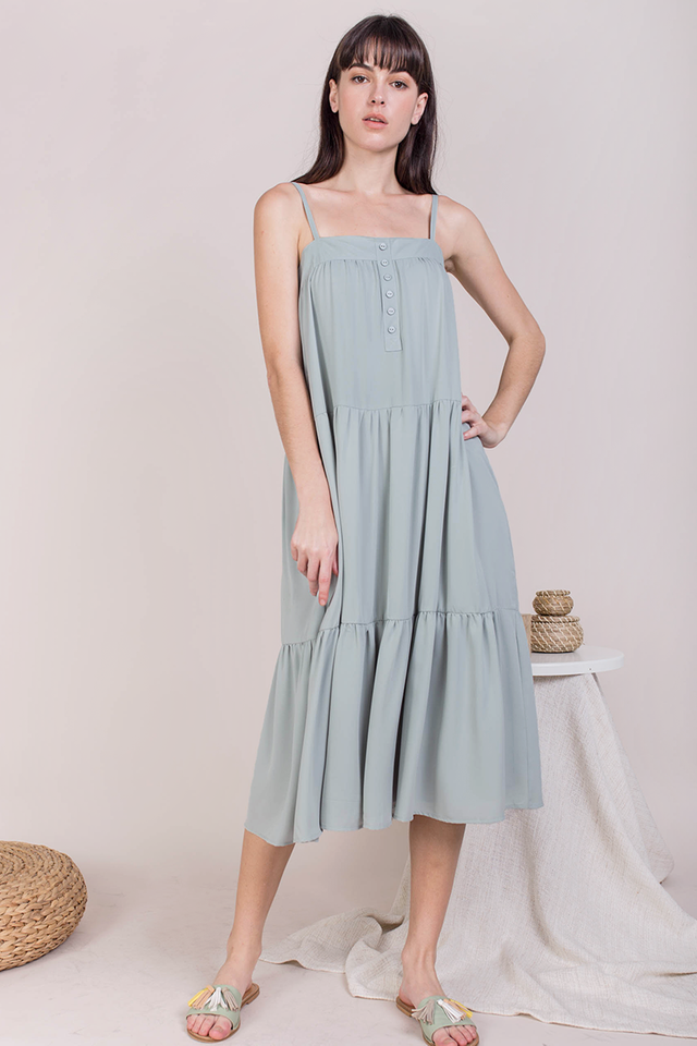 Frida Midi Dress (Seafoam)
