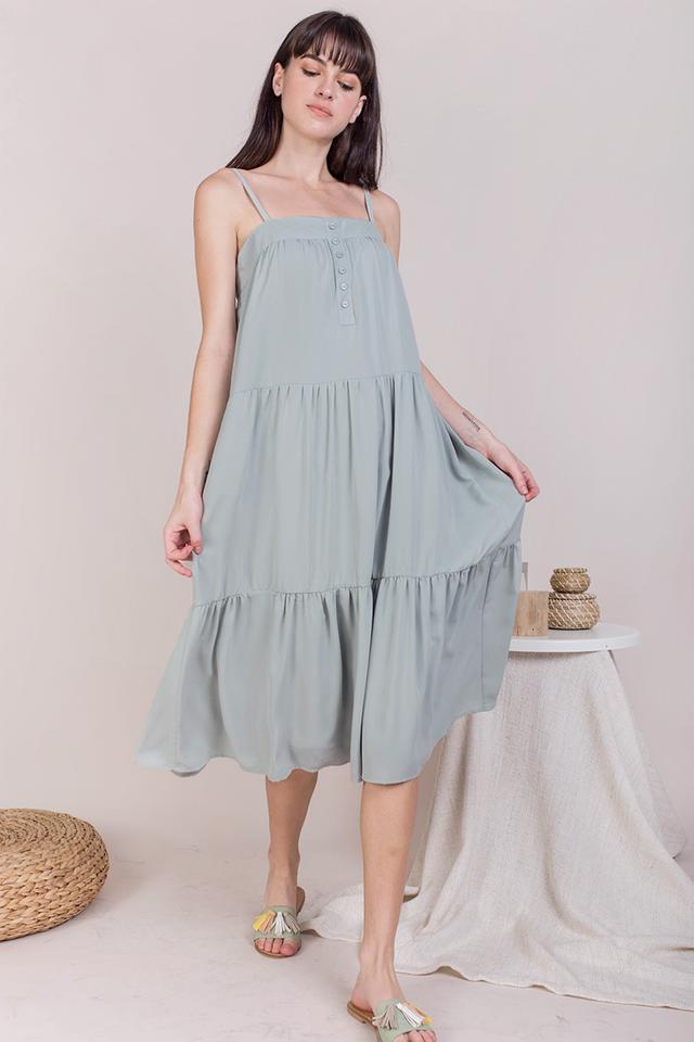 Frida Midi Dress (Seafoam)