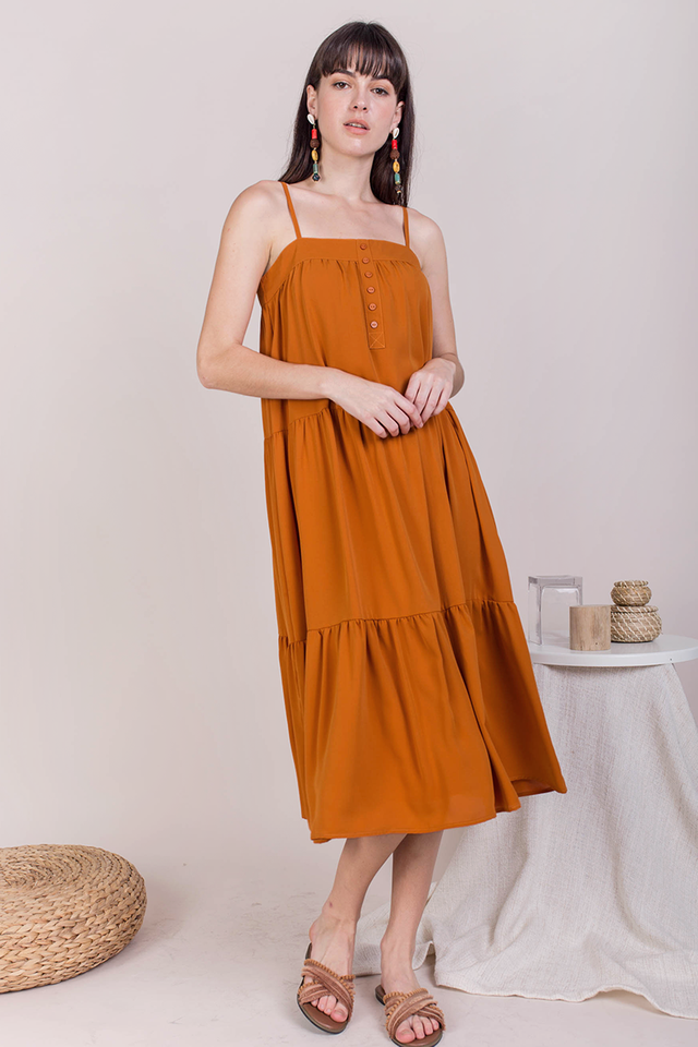 Frida Midi Dress (Amber)