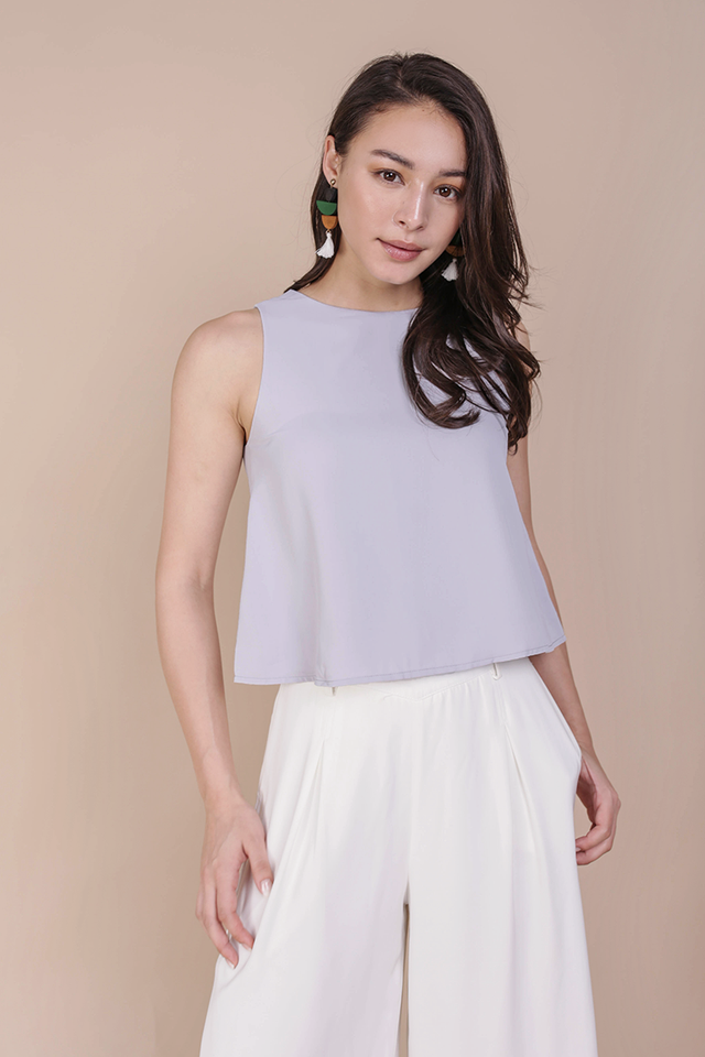 Judy Flare Top (Lilac Grey)