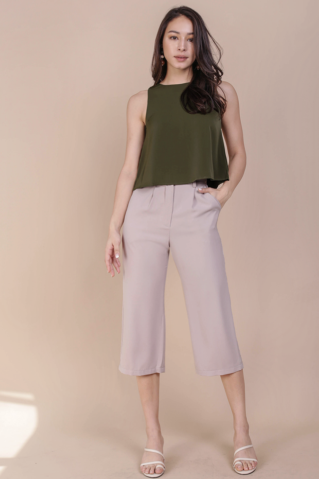 Clan Straight Leg Culottes (Nude)