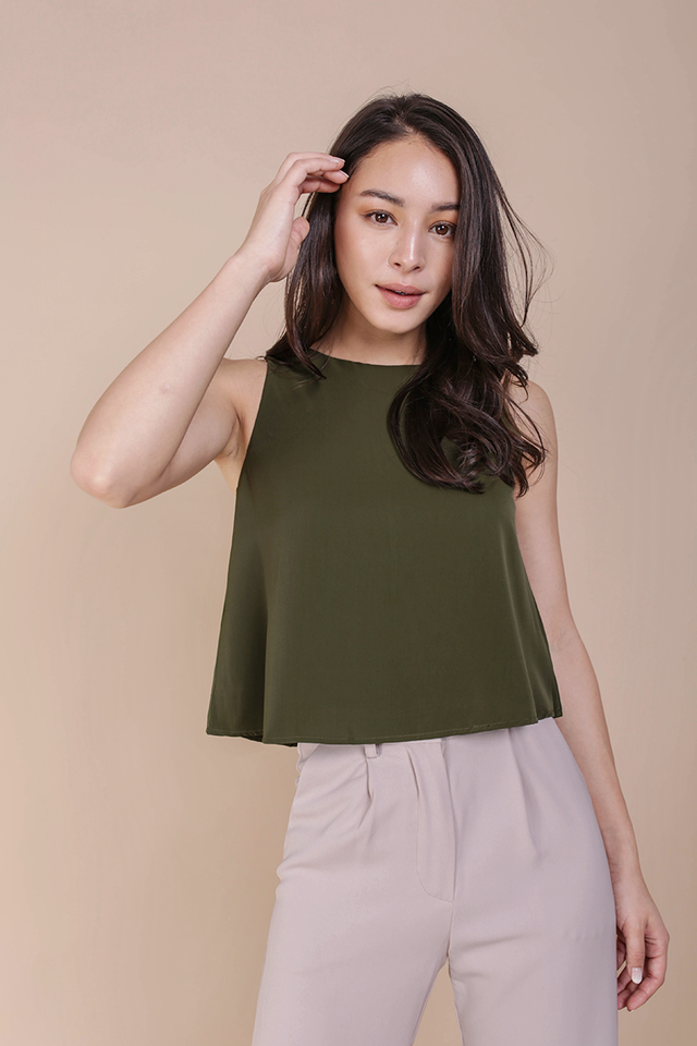 Judy Flare Top (Olive)