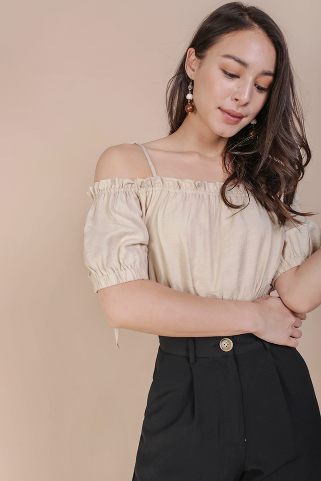 Lolly Cropped Top (Nude)