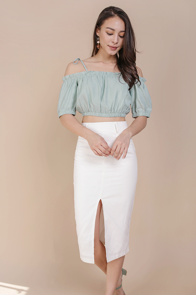 Lolly Cropped Top (Seafoam)