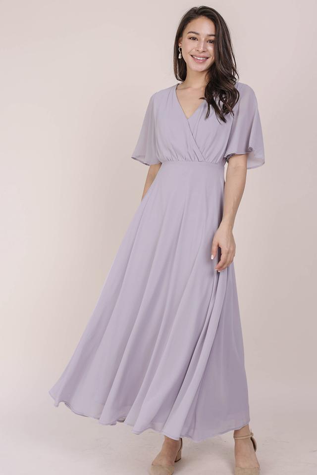 Shana Sleeved Maxi (Lilac)