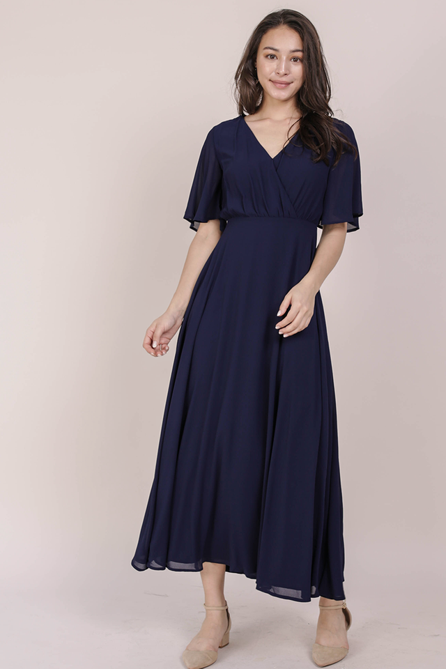 Shana Sleeved Maxi (Navy)