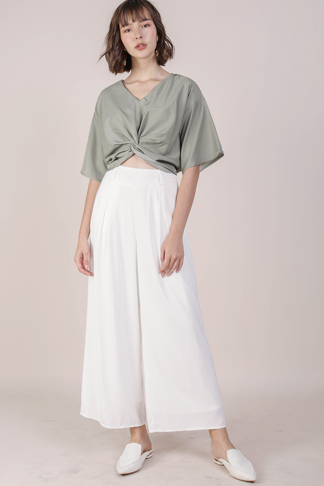 Sheila Knot Top (Sage Green)