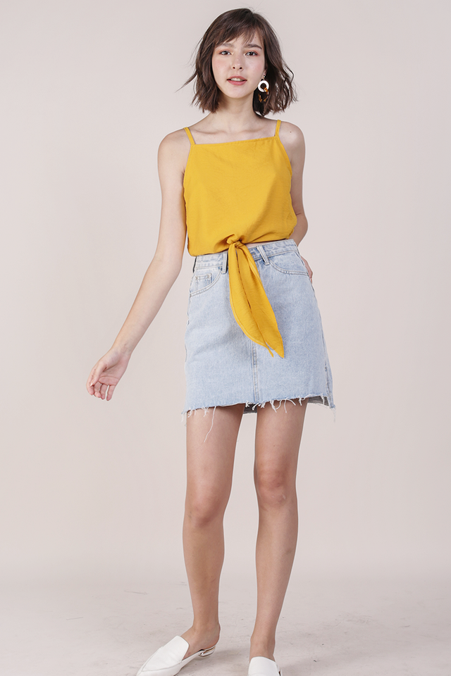 Havah Tie Front Top (Yellow)