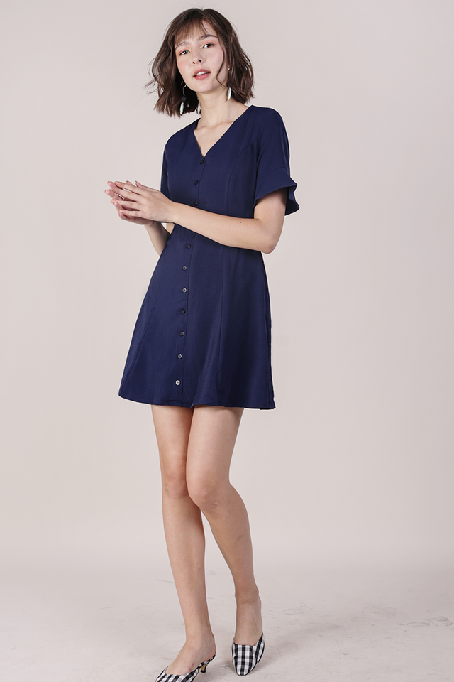 Leila Mini Dress (Navy)