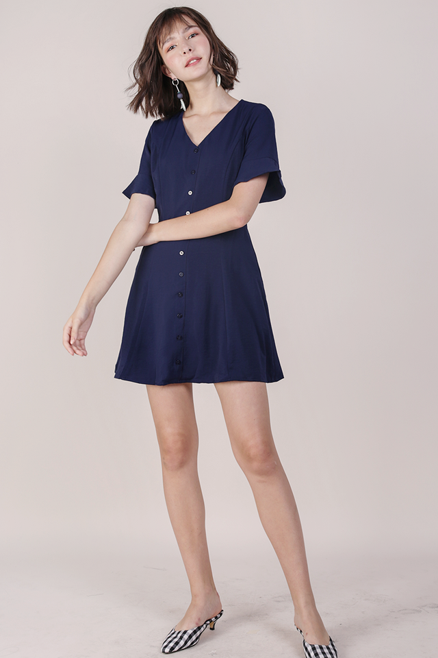 Leila Mini Dress (Navy)