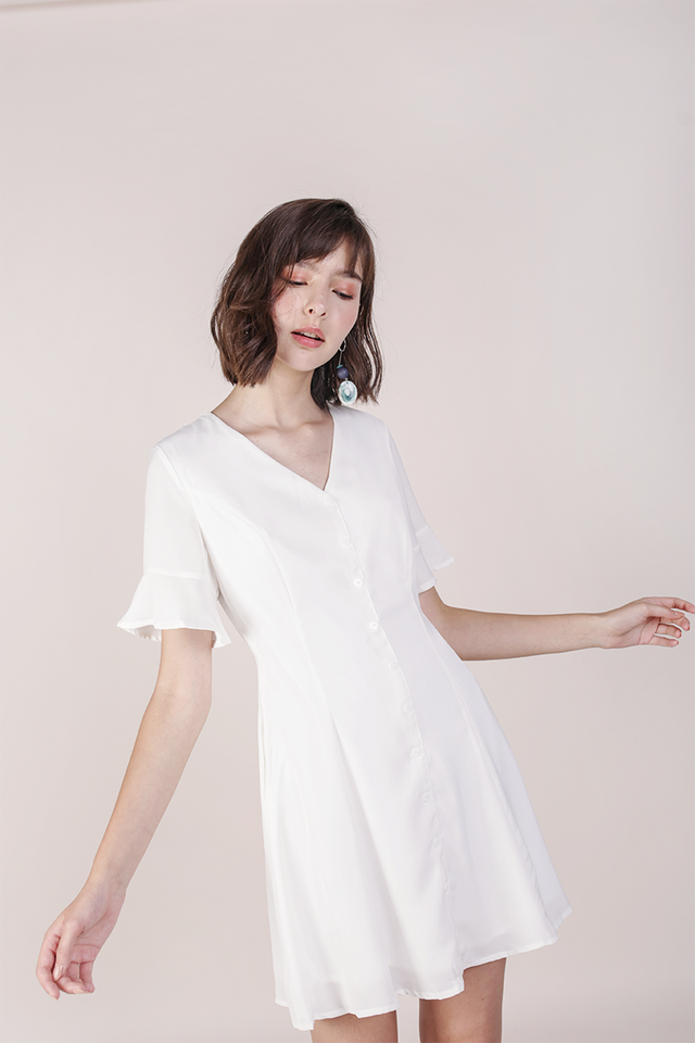 Leila Mini Dress (White)
