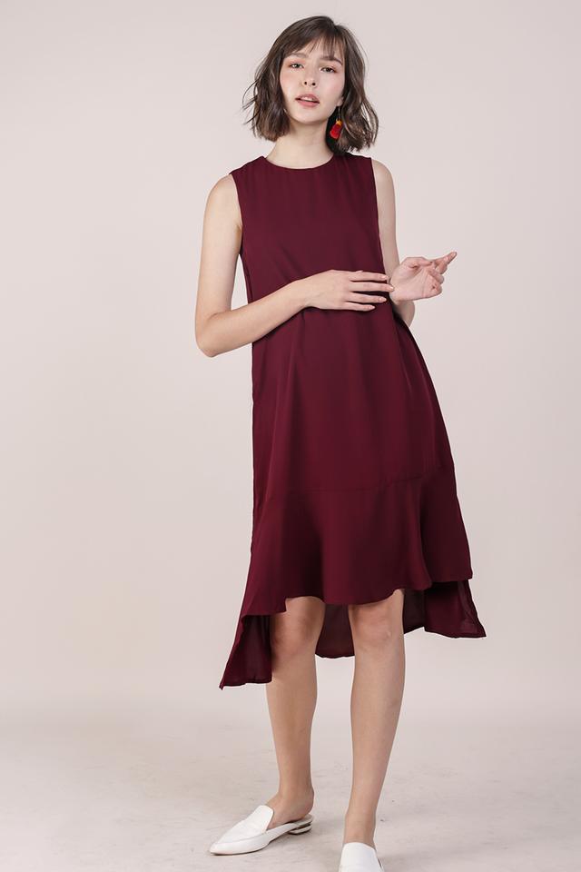 Rubie Flowy Dress (Maroon)