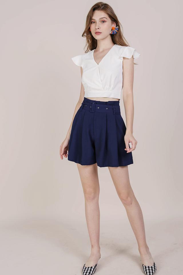 Mayson Belted Shorts (Navy)