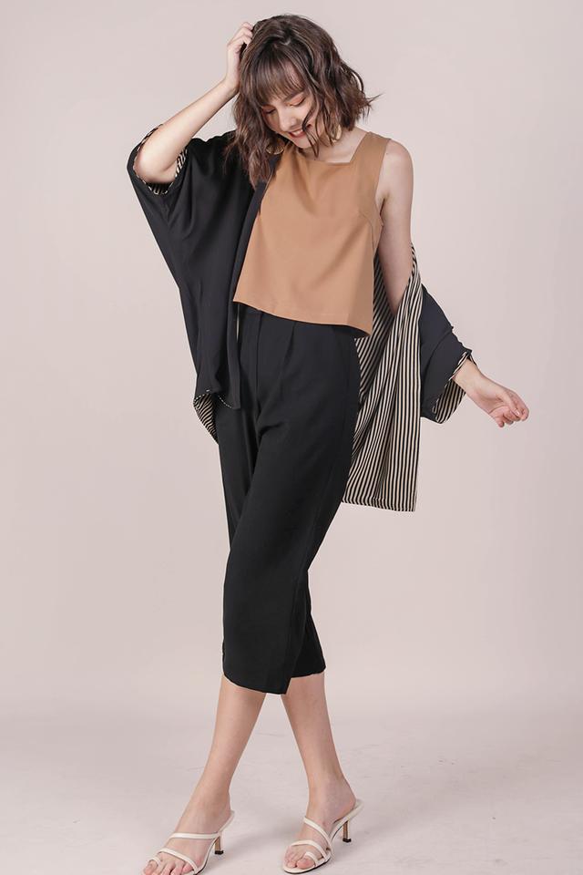 Jace Reversible Kimono (Stripes/Black)