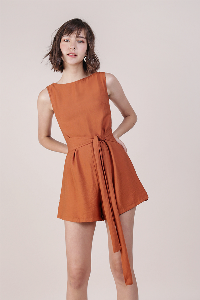 Tisha Romper (Orange)