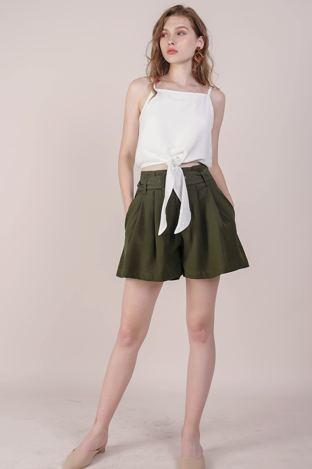 Mayson Belted Shorts (Olive)