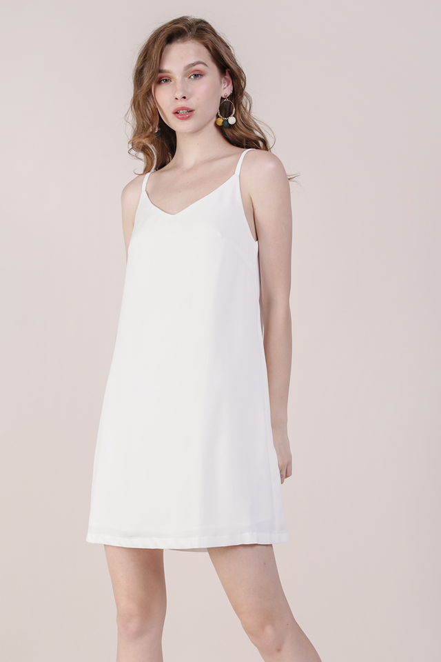 Thea Spag Dress (White)