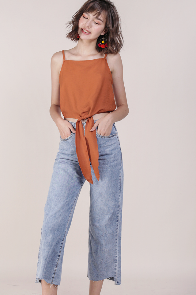 Havah Tie Front Top (Orange)