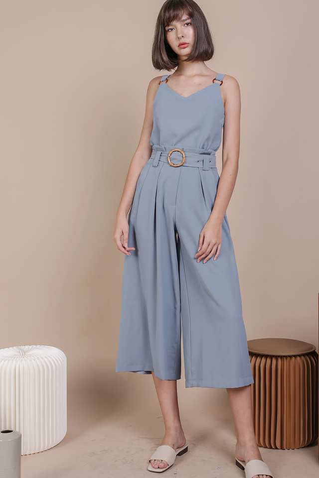 Ned Buckle Culottes (Dusty Blue)