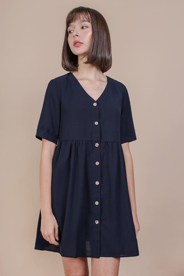 Casey Babydoll Dress (Navy)