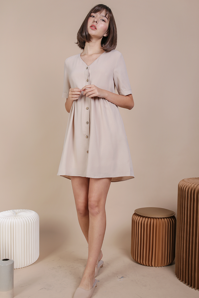 Casey Babydoll Dress (Nude)