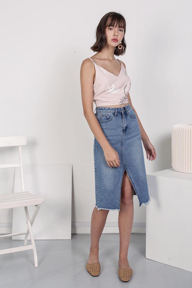 Cooper Denim Midi Skirt