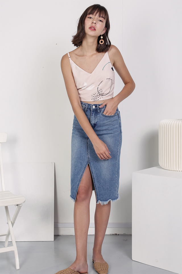 Cooper Denim Midi Skirt