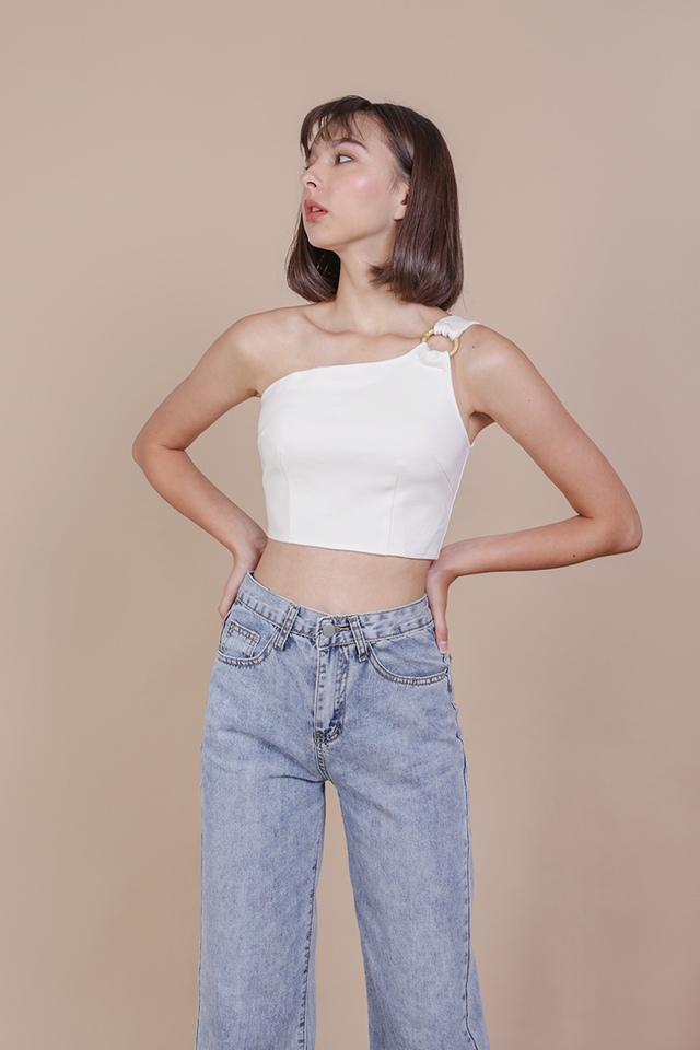 Albee Bamboo Toga Top (White)