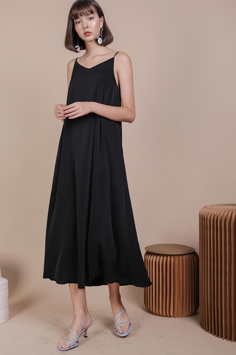 Faye Maxi Dress Black The Tinsel Rack