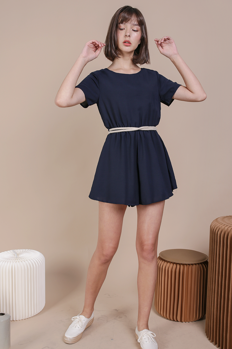 detailed pictures selected material customers first Keller Romper (Navy)