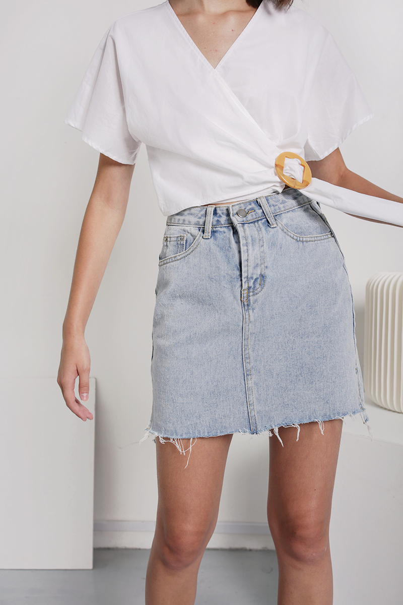 premium selection get online designer fashion Sander Denim Skirt | The Tinsel Rack