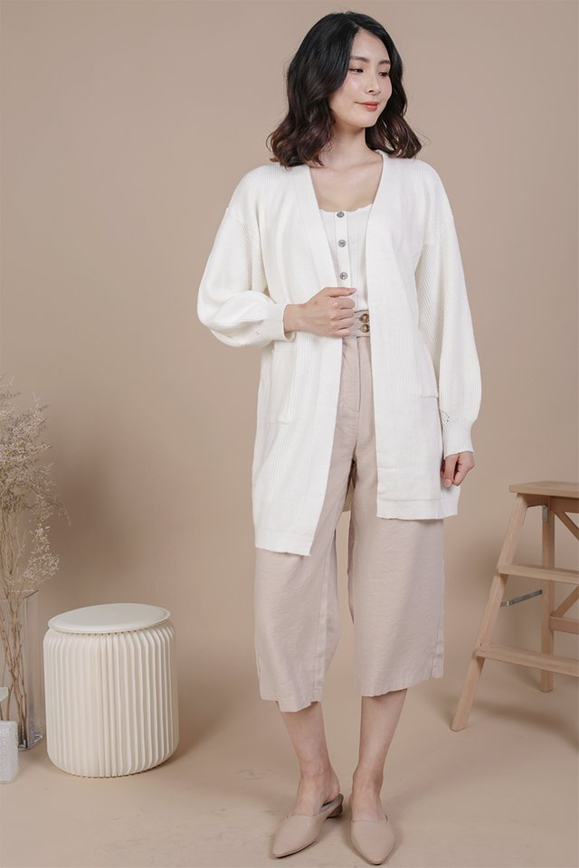 Oscar Knit Cardigan (Cream)