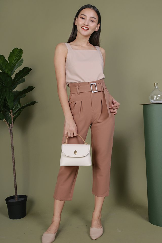 Devon Buckle Pants (Dusty Pink)