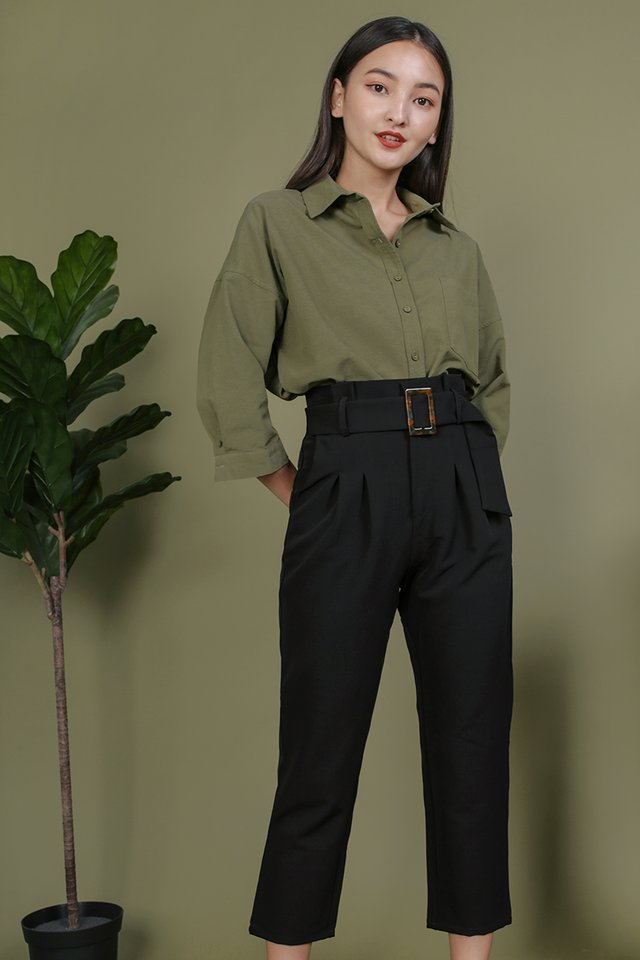 Devon Buckle Pants (Black)