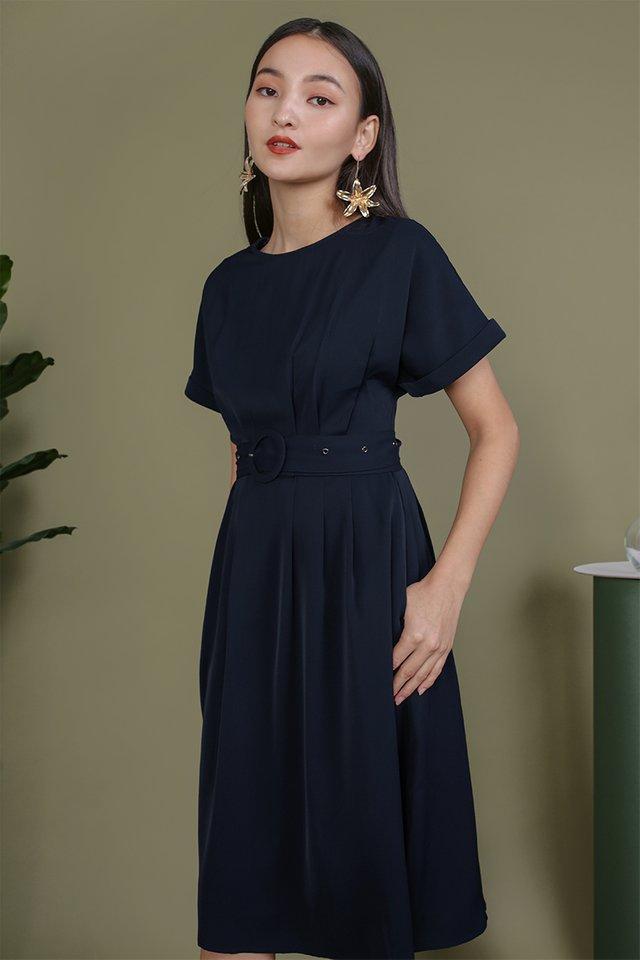 Loretta Midi Dress (Navy)