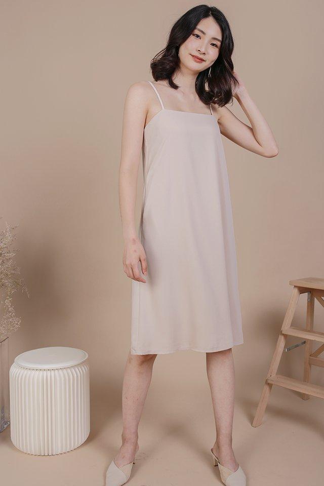 Forelle Midi Dress (Nude)