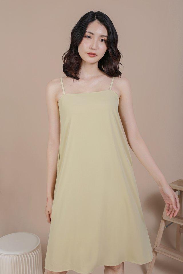 Forelle Midi Dress (Lemongrass)