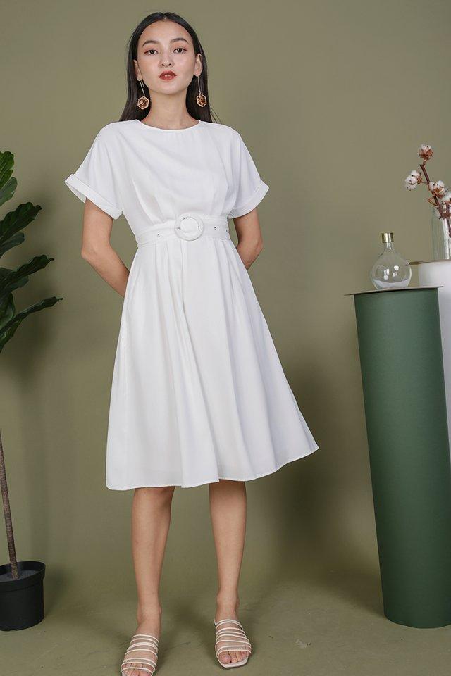 Loretta Midi Dress (White)