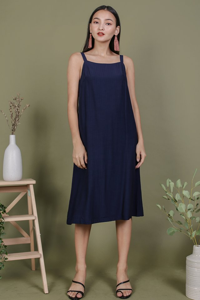 Olson Slip Dress (Navy)